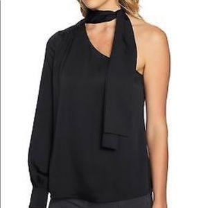 Tie-Neck one shoulder blouse